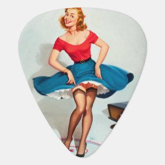 Dancing Pin-up Girl ; Vintage Pinup Art Plectrum