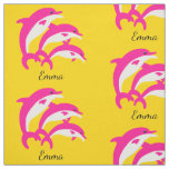 Dancing Pink Dolphins Fabric