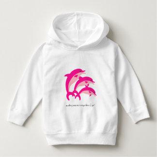 Dancing Pink Dolphins Hoodie