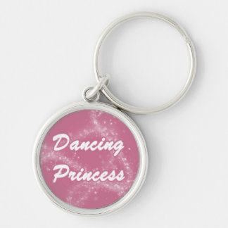 Dancing Princess Silver-Colored Round Key Ring
