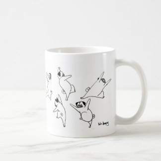 Dancing Pugs Basic White Mug