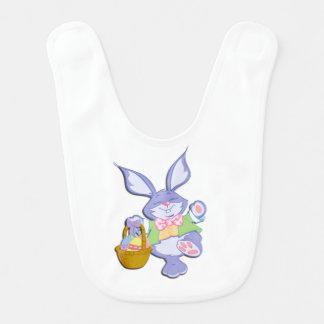 Dancing Purple Easter Bunny Lavender Bib
