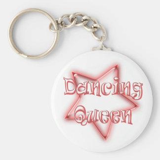 Dancing Queen Girls Pink Logo Key Chain