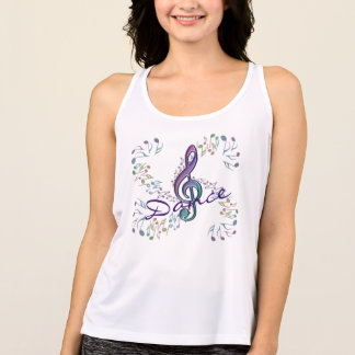Dancing Rainbow Notes and Clef Dance Tee