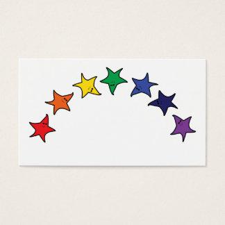 Dancing rainbow stars business card