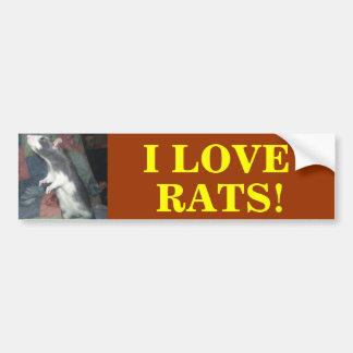 DANCING RAT BUMPER STICKER