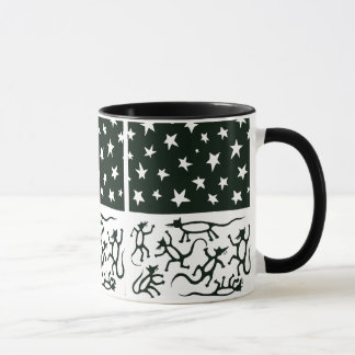 Dancing Rats under a Star-Filled Night Mug
