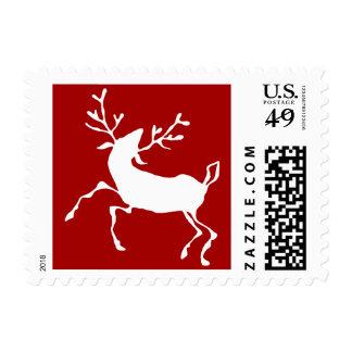 Dancing Reindeer Postage Stamp