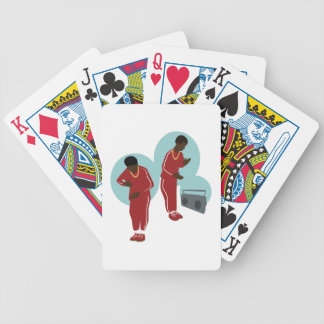 Dancing Robot Boys Bicycle Playing Cards