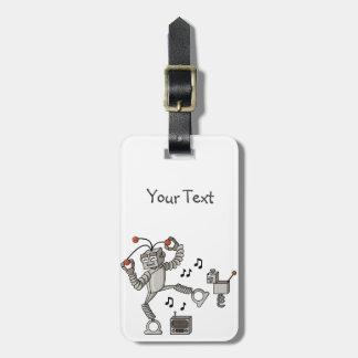 Dancing robot luggage tag