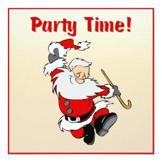 Dancing Santa Christmas Invite