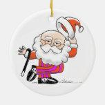Dancing Santa Christmas Ornament