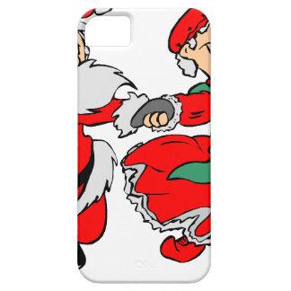 Dancing Santa claus iPhone 5 Cases