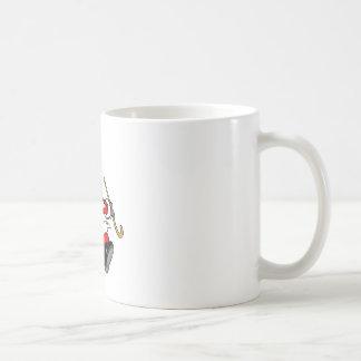 Dancing Santa Claus on Christmas Coffee Mug
