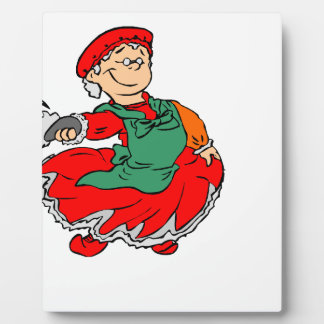 Dancing Santa claus Plaque
