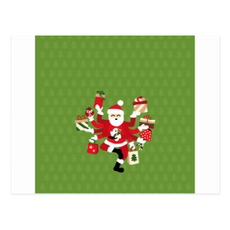 Dancing Shiva Claus - Spruce Forest Postcard