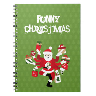 Dancing Shiva Claus - Spruce Forest Spiral Notebook