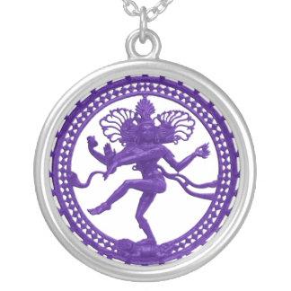 Dancing Shiva Necklace - purple