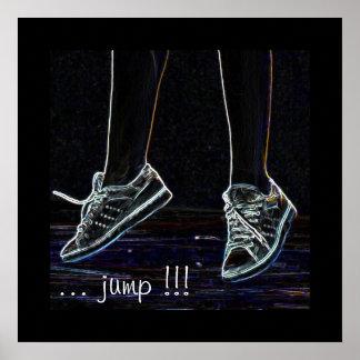 dancing shoe jump poster