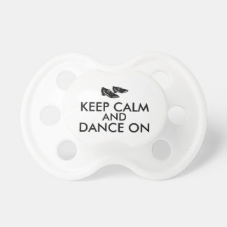 Dancing Shoes Customizable Keep Calm and Dance On Baby Pacifier