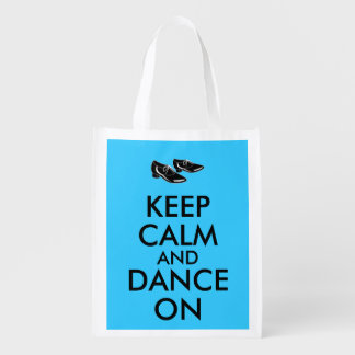 Dancing Shoes Customizable Keep Calm and Dance On Reusable Grocery Bags