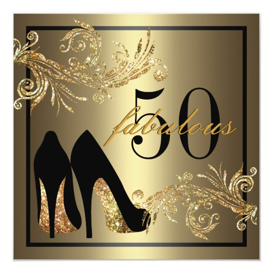 Dancing Shoes Fabulous 50th Birthday Invitation Zazzlecomau
