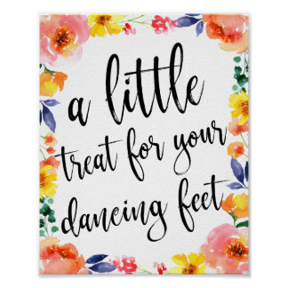 Dancing Shoes Shoes Floral Wedding 8x10 Sign