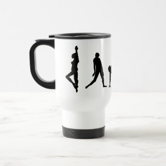 Dancing Silhouette Stainless Steel Travel Mug