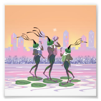 Dancing Singing Party Frogs Art Photo