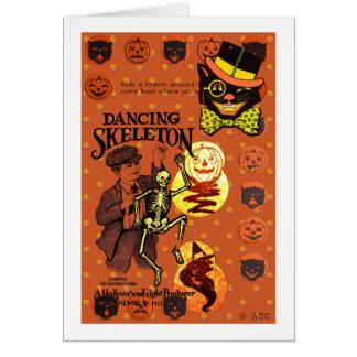 Dancing Skeleton Card