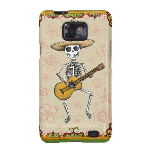 Dancing Skeleton Muertos Samsung Galaxy S2 Case