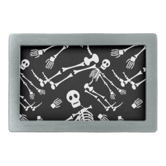 Dancing skeletons belt buckle