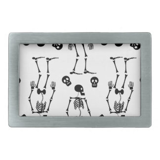 Dancing skeletons belt buckles