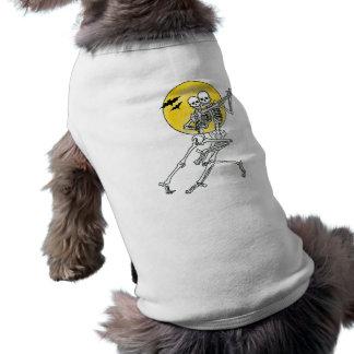 Dancing Skeletons Dog Tee
