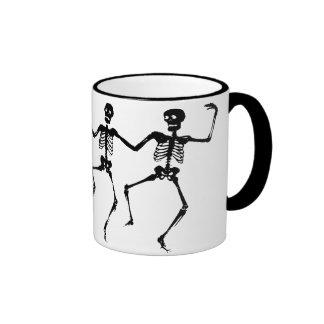 Dancing Skeletons (Halloween) Ringer Mug