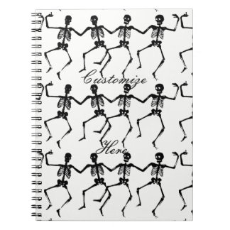 Dancing Skeletons Halloween Thunder_Cove Notebook