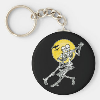 Dancing Skeletons Keychain Keychains