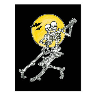 Dancing Skeletons Postcard Post Cards