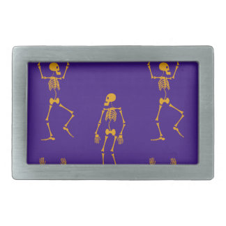 Dancing skeletons rectangular belt buckle