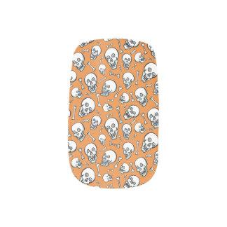 """Dancing Skulls"" — Minx Finger Nail Coverings Minx Nail Art"