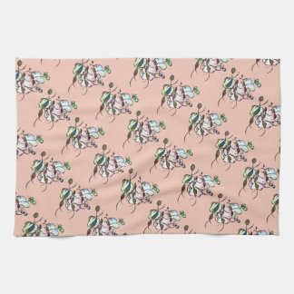Dancing sprites & fairies - cute tribal art tea towel