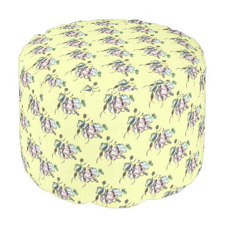 Dancing sprites & fairies - dreamy tribal bees pouf