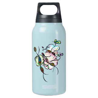 Dancing sprites & fairies - dreamy tribal painting insulated water bottle