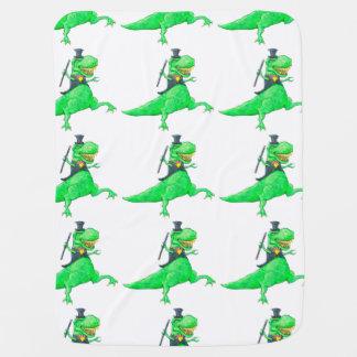 Dancing T-Rex Receiving Blanket