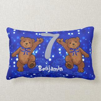 Dancing Teddy Bears 7th Birthday Cushion