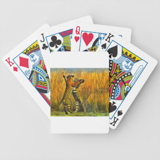 Dancing Tigers Bicycle Playing Cards
