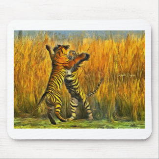Dancing Tigers Mouse Pad