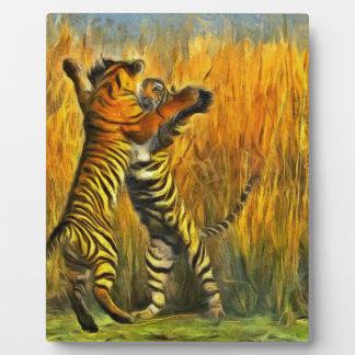 Dancing Tigers Photo Plaque