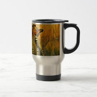Dancing Tigers Travel Mug