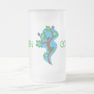 Dancing to Go Green Frosted Mug
